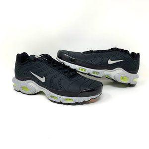 Nike Air Max Plus Premium Black Matte Silver Volt